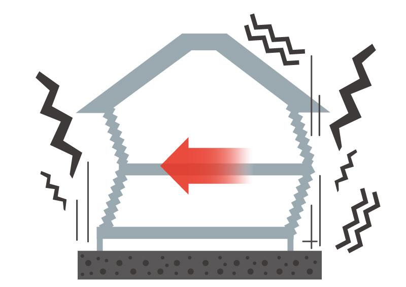 地震から身を守る住宅:家が倒壊するステップ02