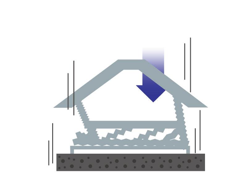 地震から身を守る住宅:家が倒壊するステップ03