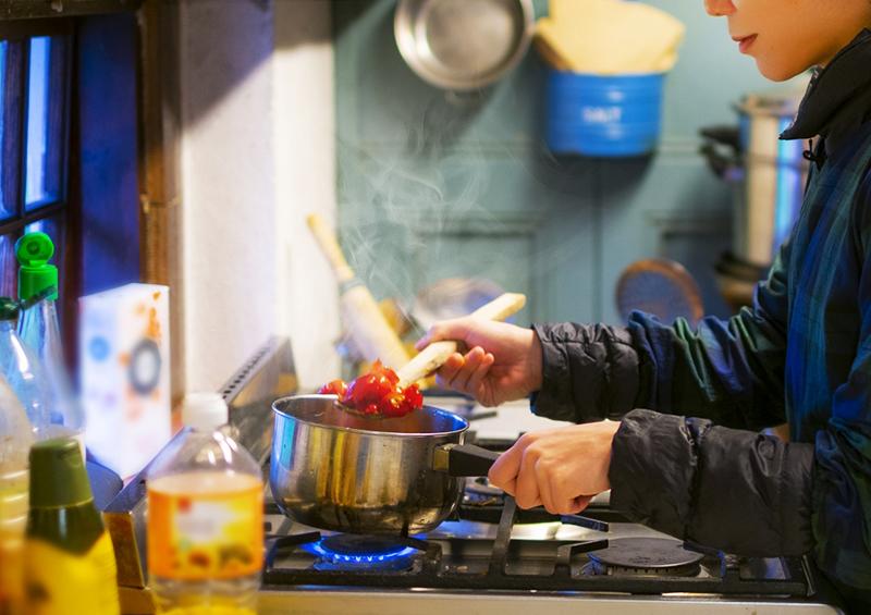 新しい生活様式 換気 :調理中に出る水蒸気