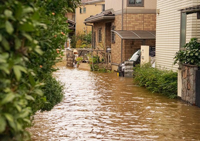 風水害 被害 住宅 浸水の様子