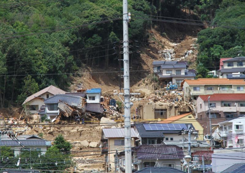 風水害 住宅 被害:土砂災害の様子