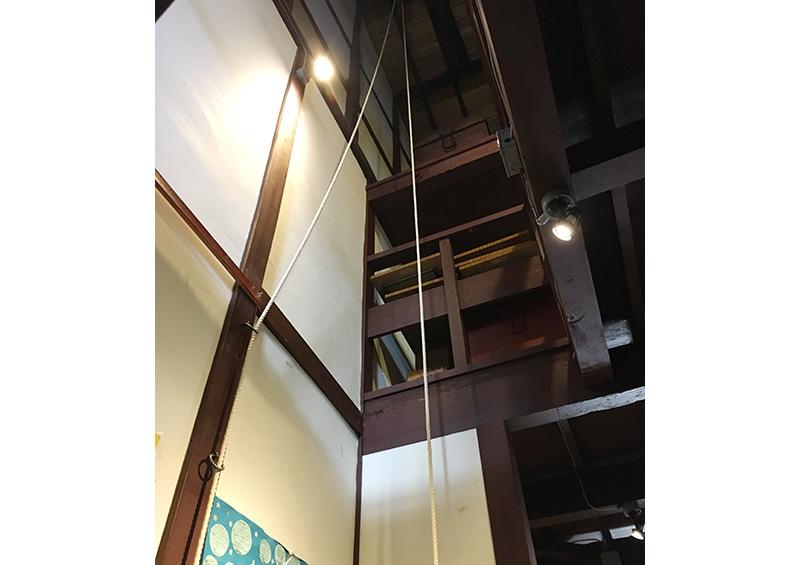 災害発生時に荷物を上げる構造:福知山市伝統家屋「タカ」